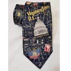 Other - Washington DC Silk Tie American Capitol USA Blue